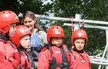 School kids Open Canoeing